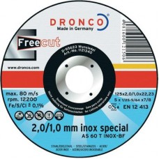 F-SDV115FREE DRONCO SP.INOX115 1.0-2.0/22.2 AS60T FREE CUT VLAK VPE:25
